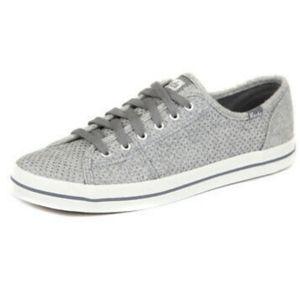 Keds gray glitter Kickstart wool sneakers